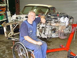 Don, proud E-Type Jaguar owner and restorer
